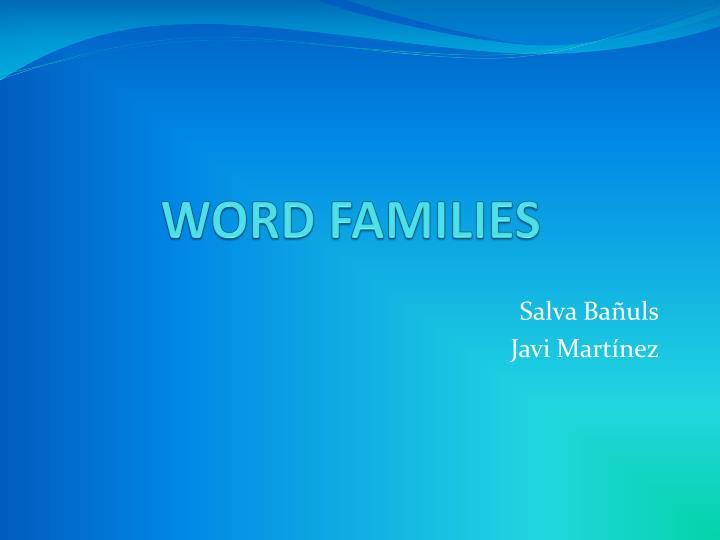 word families n.