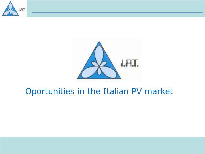 oportunities in the italian pv market n.