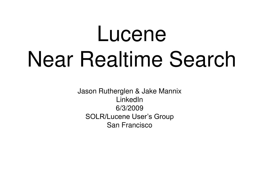 lucene near realtime search l.