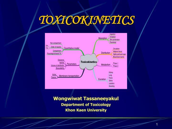 toxicokinetics n.
