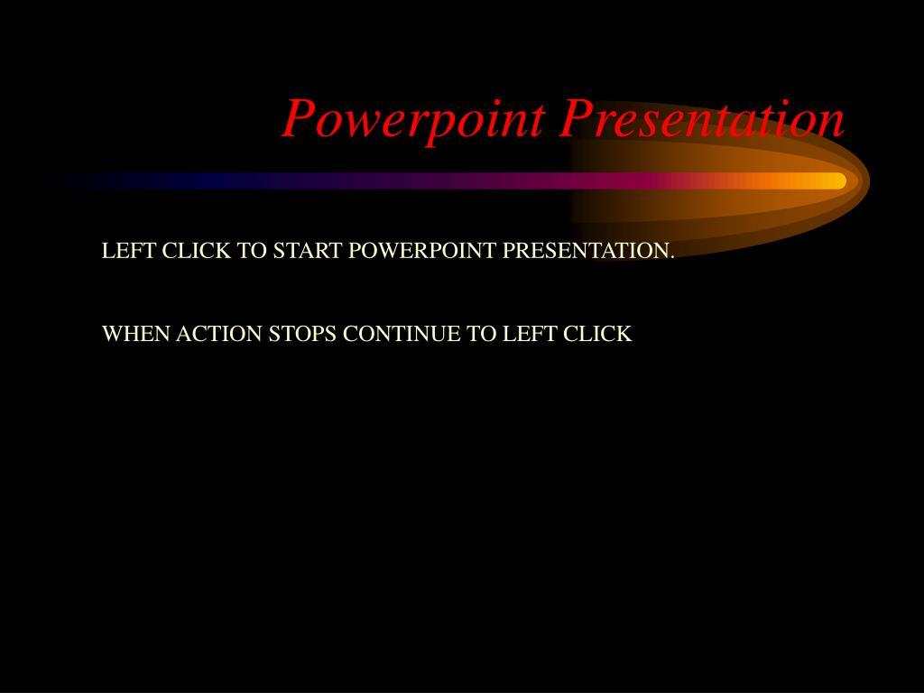 powerpoint presentation l.