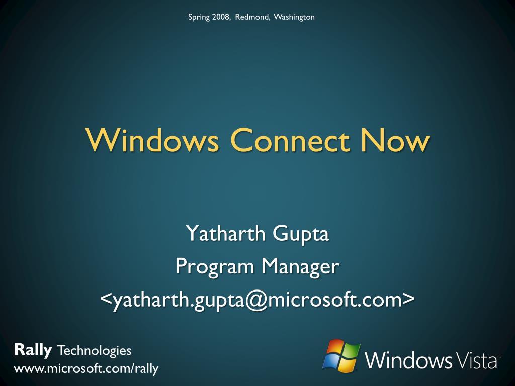 windows connect now l.