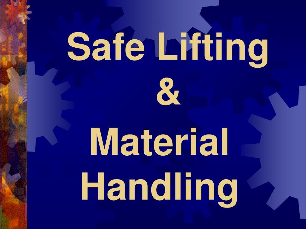 safe lifting l.