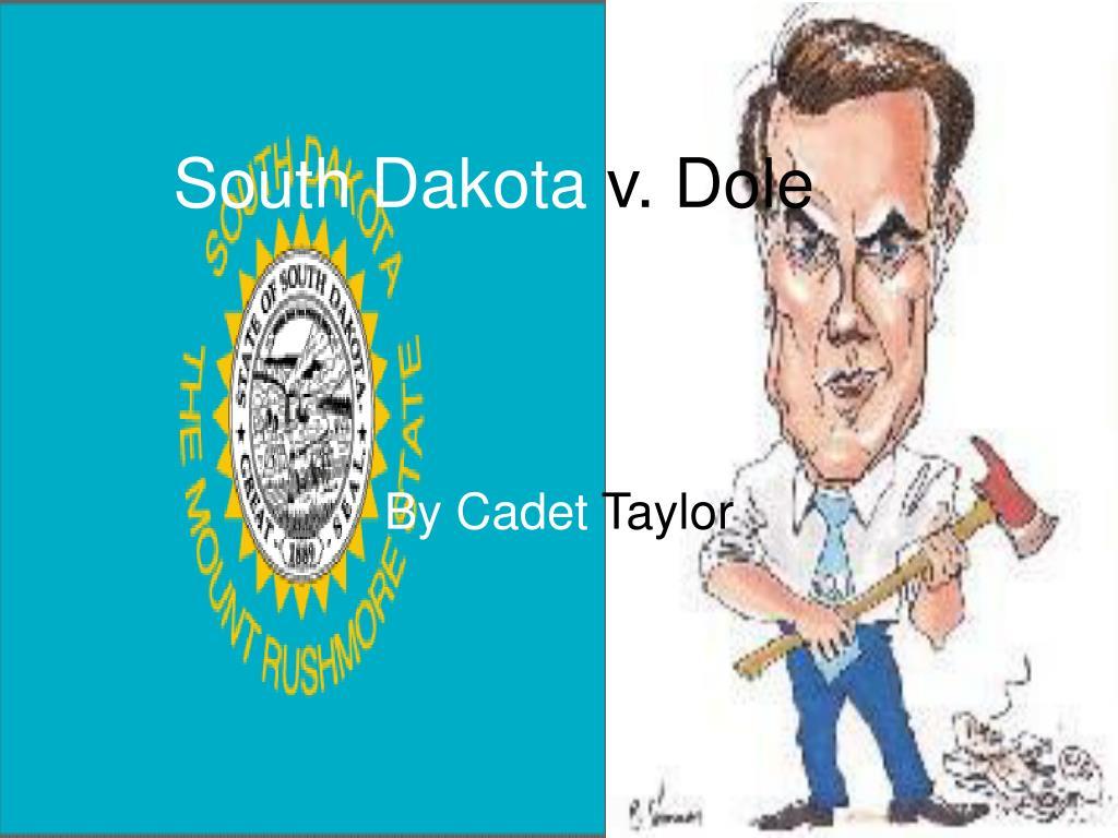 south dakota v dole l.