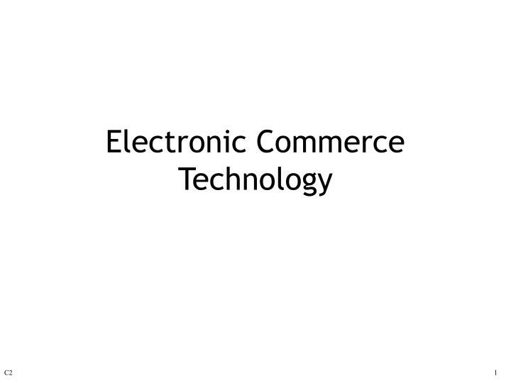electronic commerce technology n.