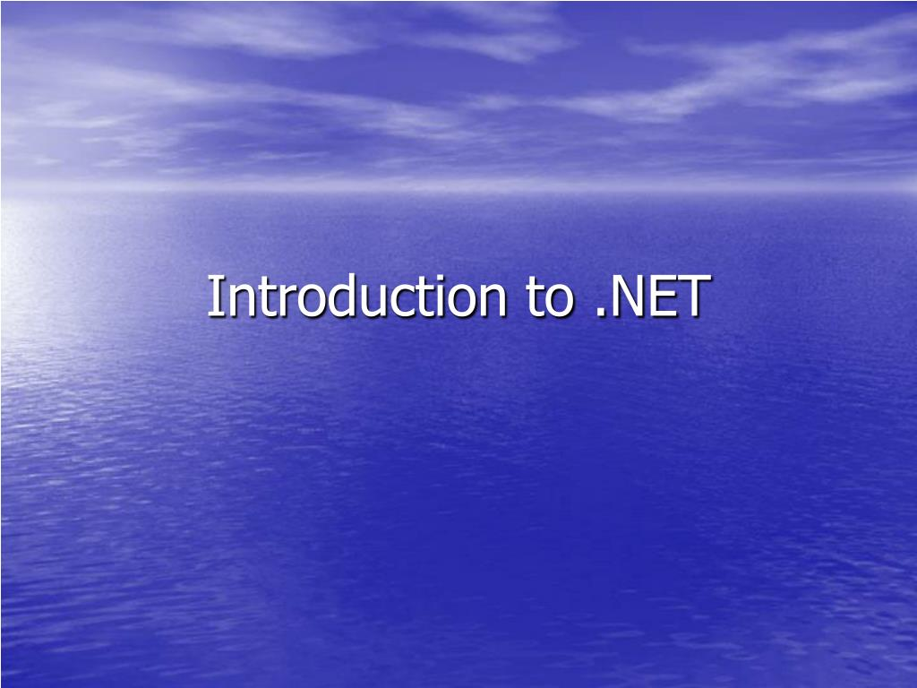 introduction to net l.