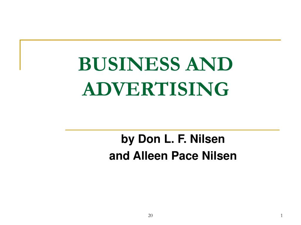 business and advertising l.