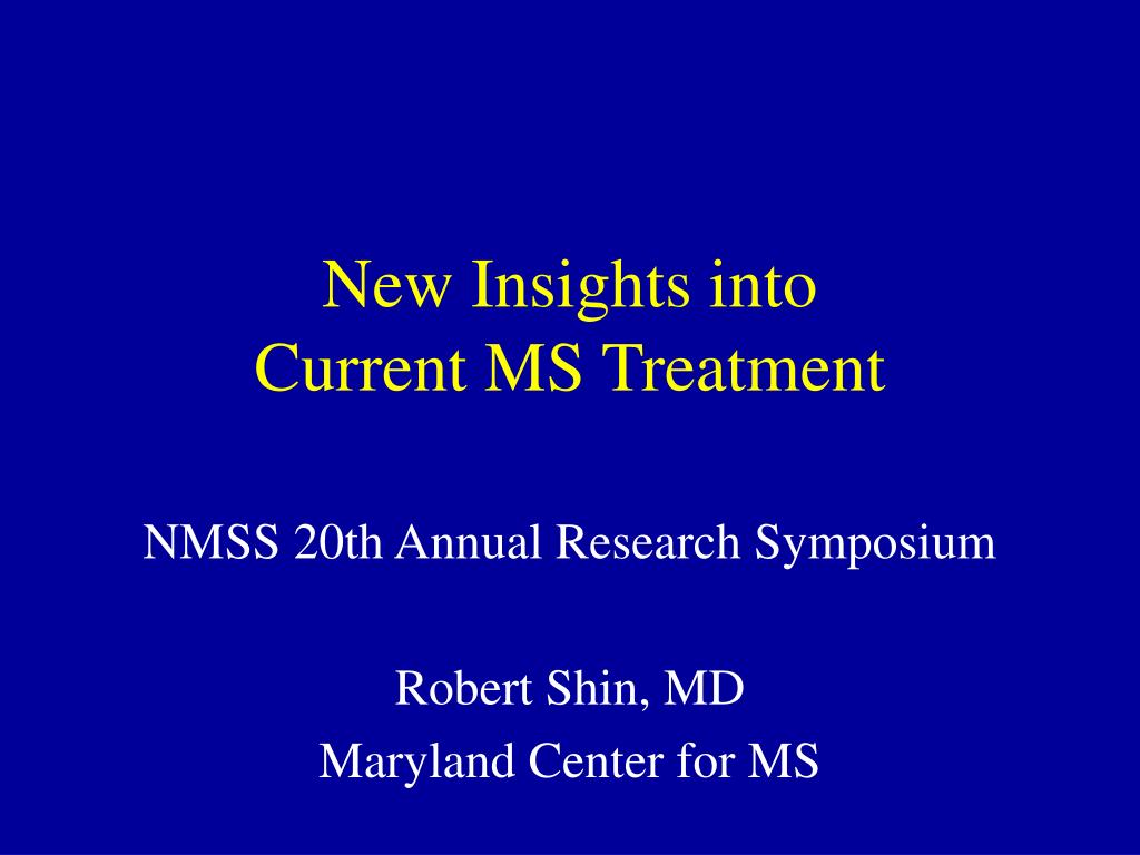 new insights into current ms treatment l.