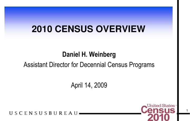 2010 census overview n.