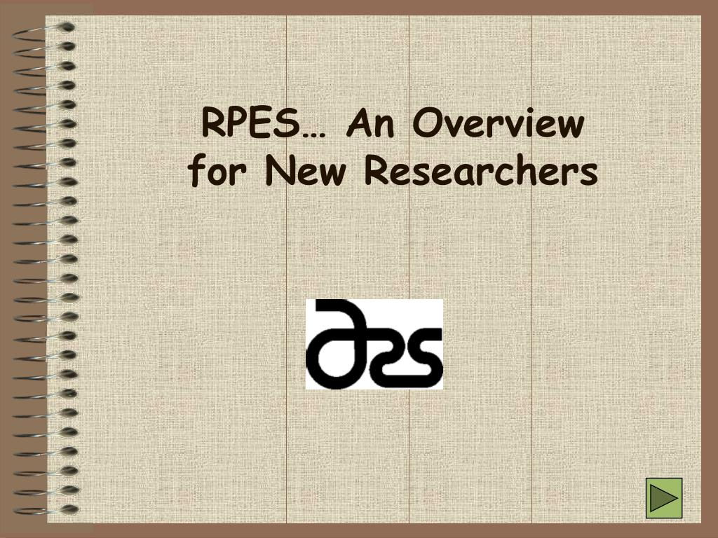 rpes an overview for new researchers l.