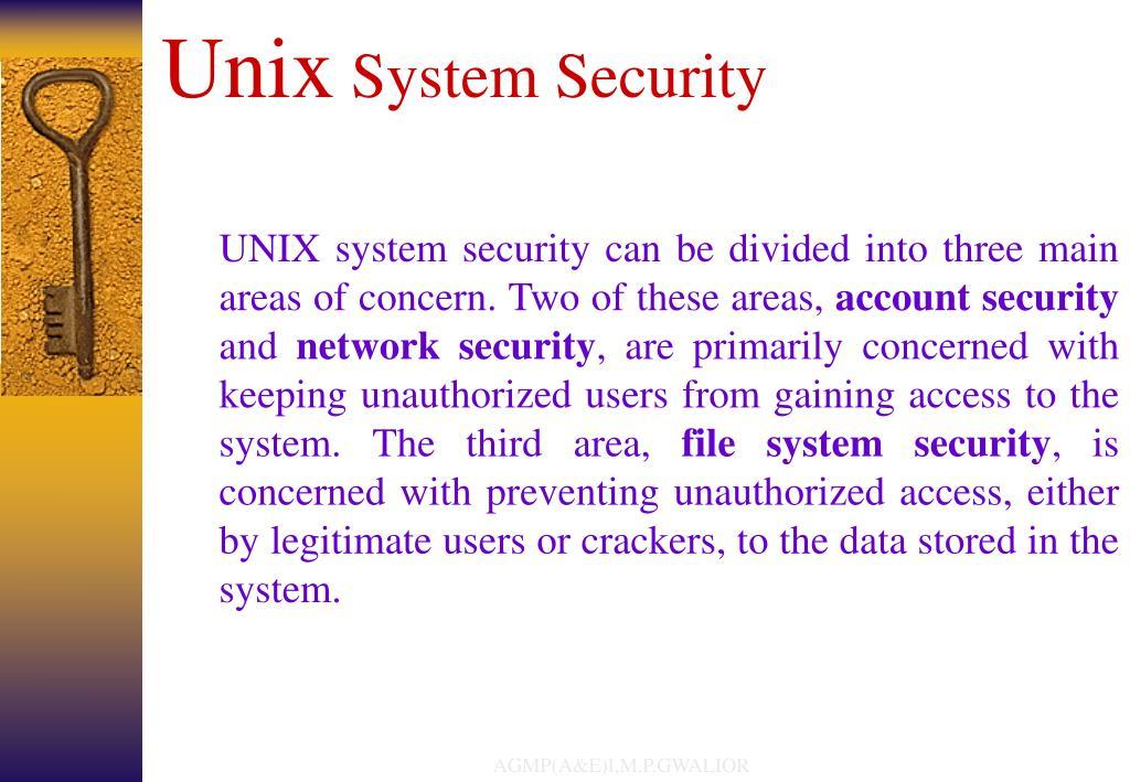 unix system security l.
