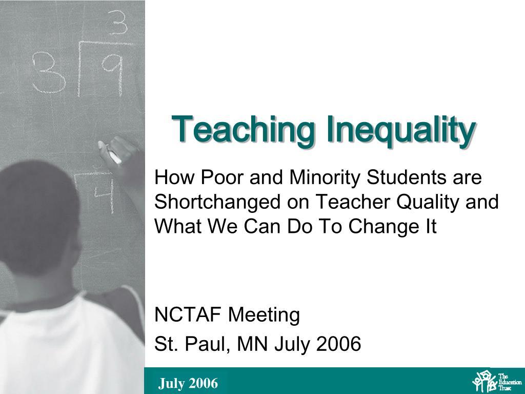teaching inequality l.
