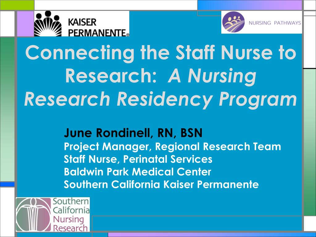 connecting the staff nurse to research a nursing research residency program l.