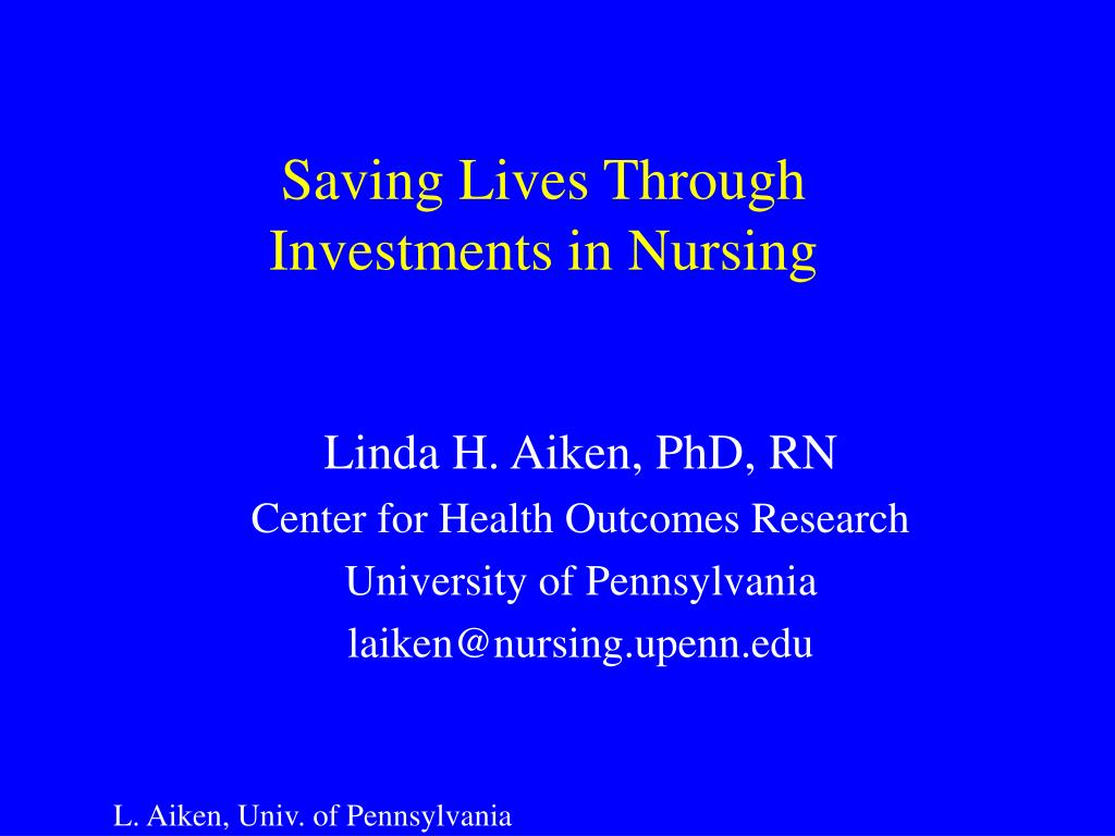 saving lives through investments in nursing l.