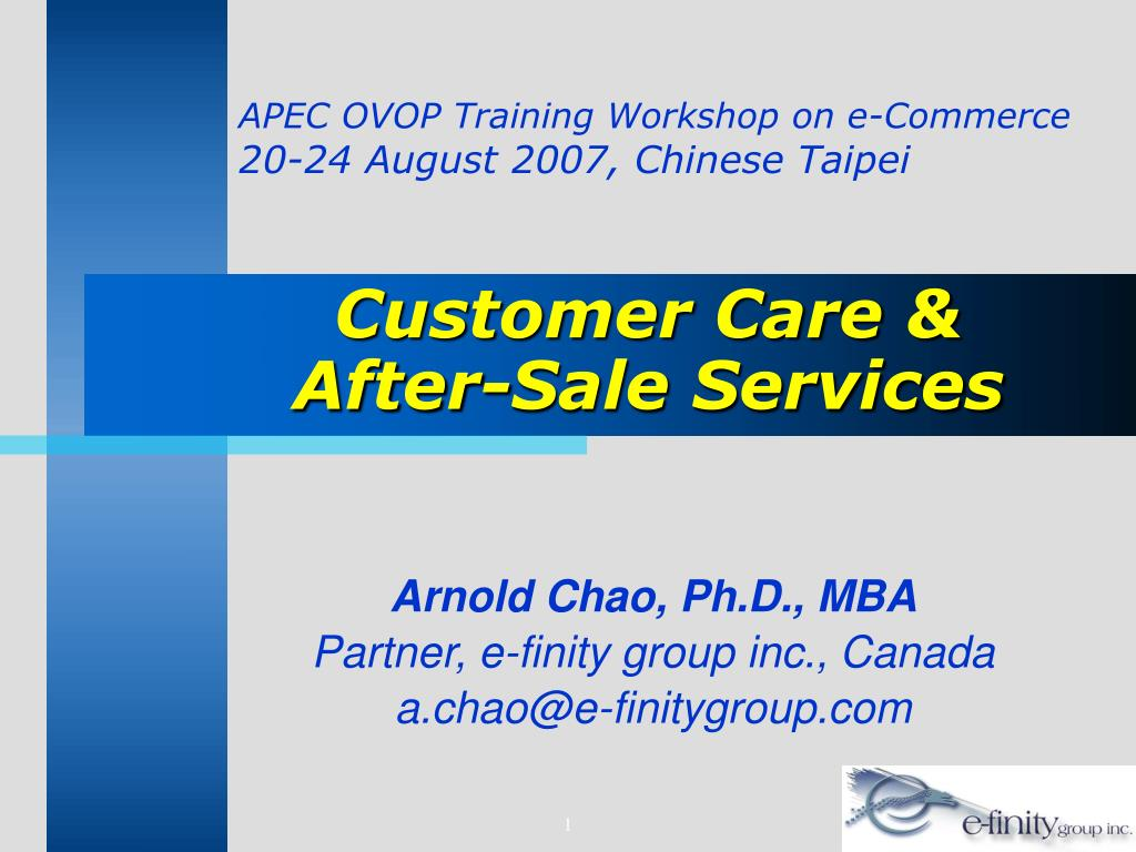 customer care after sale services l.