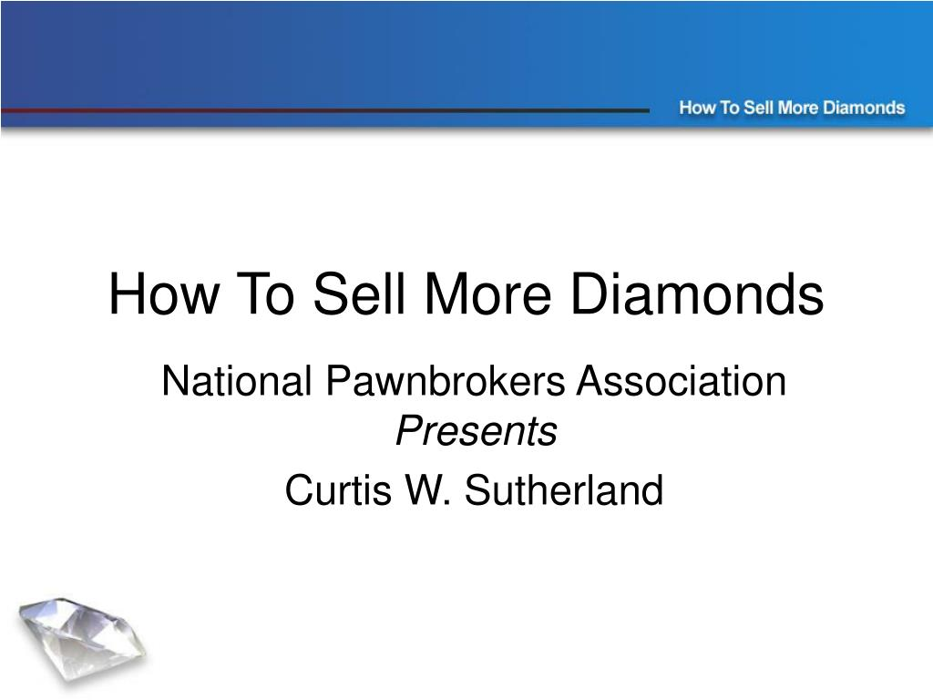 how to sell more diamonds l.