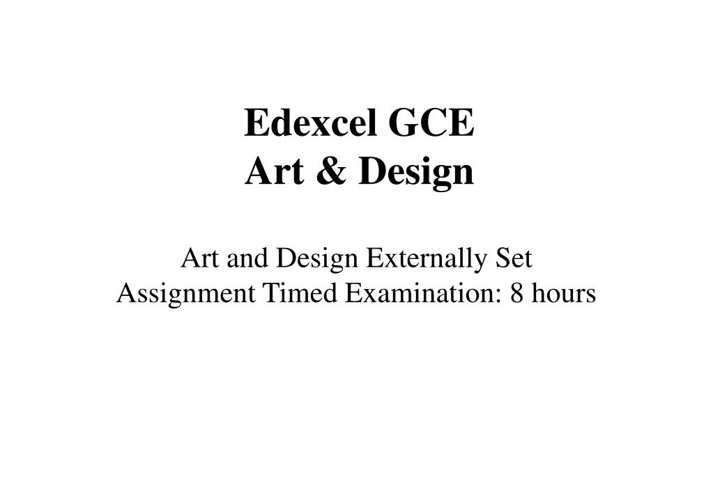 edexcel gce art design l.