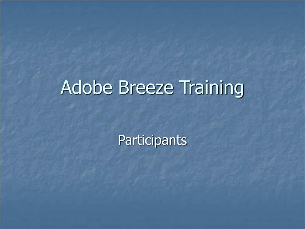 adobe breeze training l.