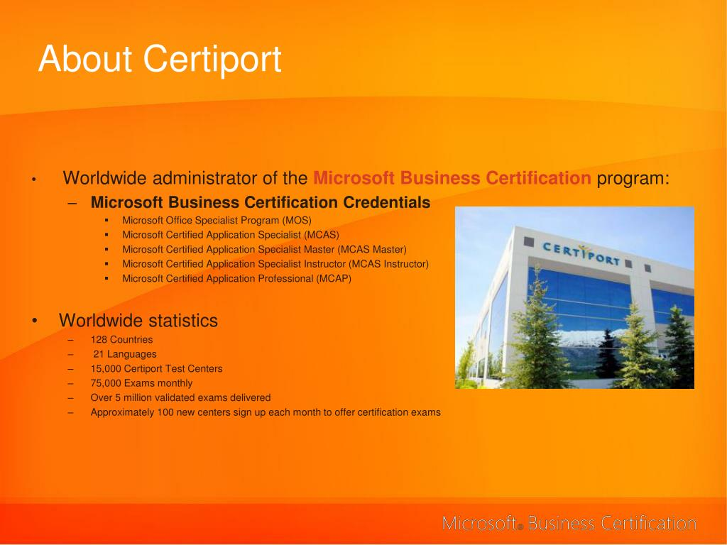 about certiport l.