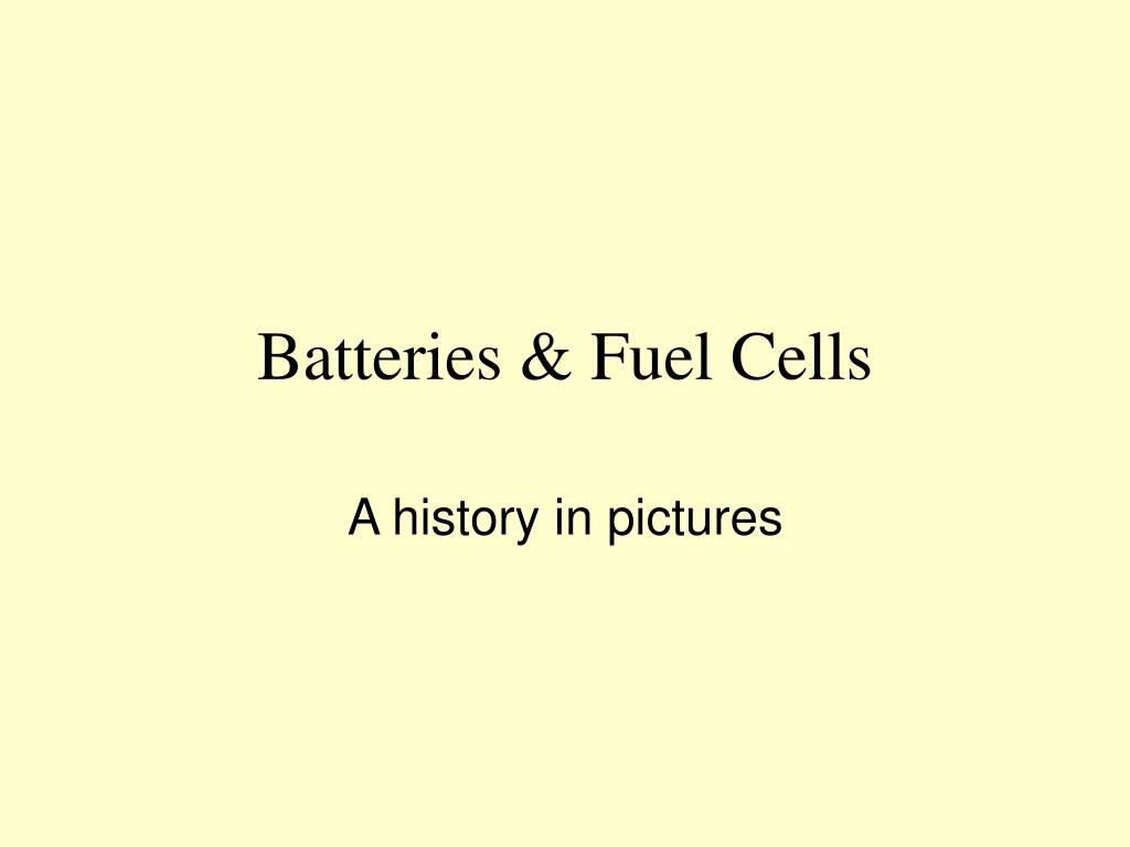 batteries fuel cells l.