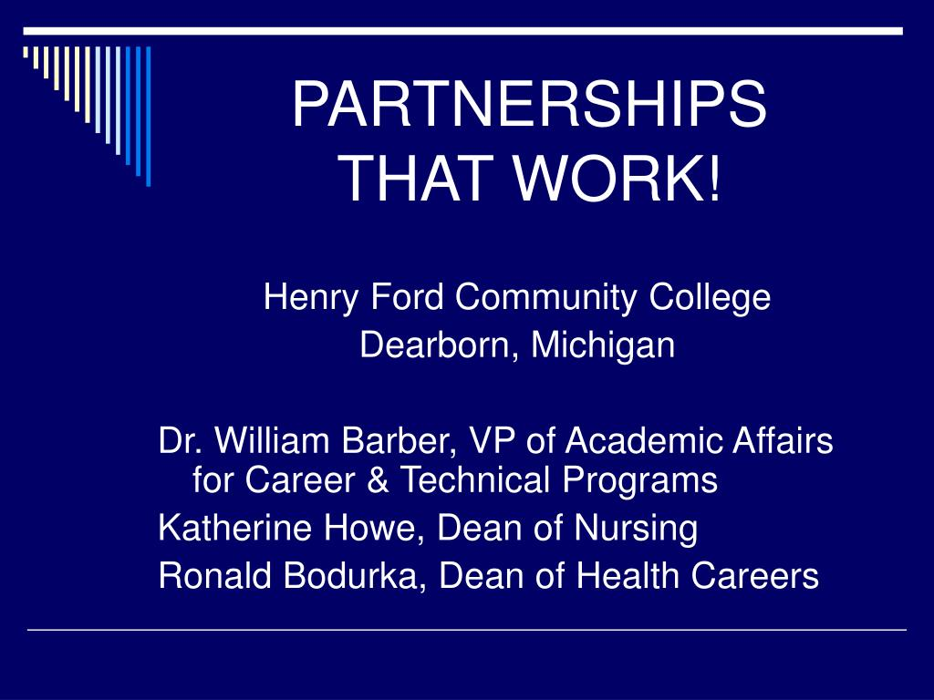 partnerships that work l.