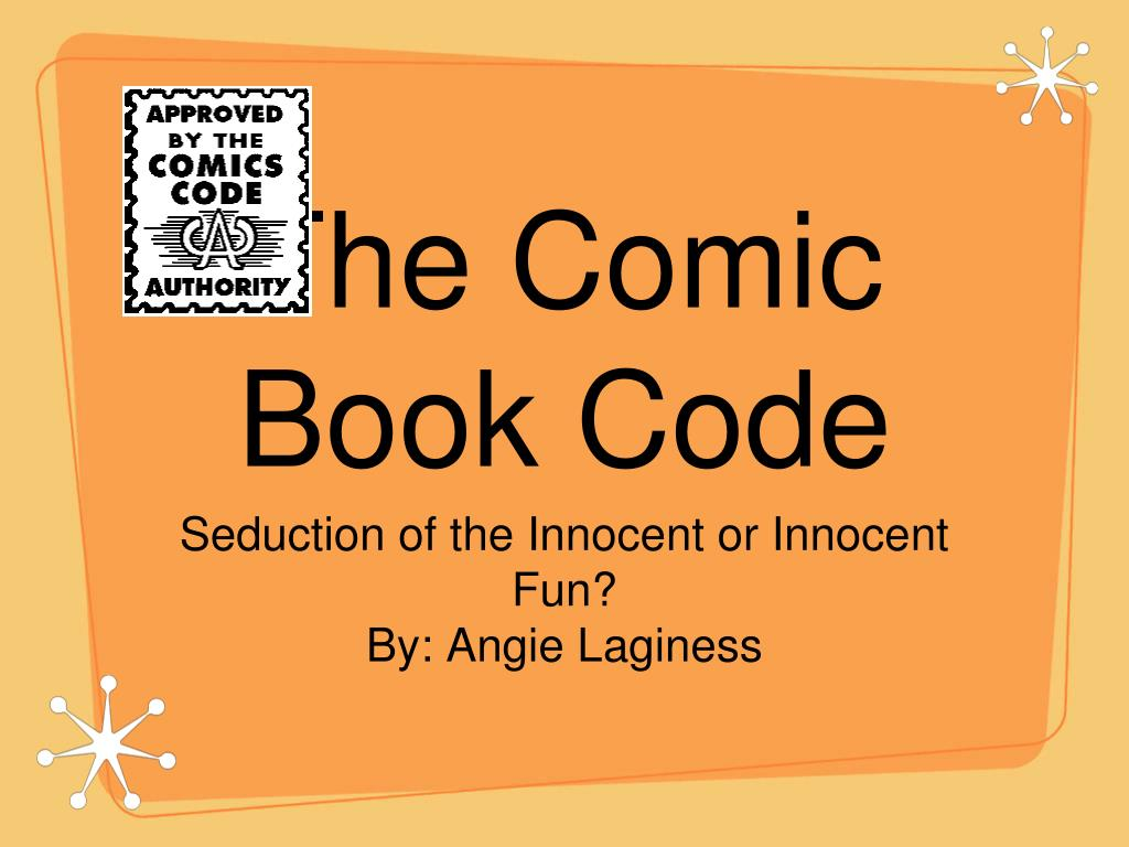 the comic book code l.