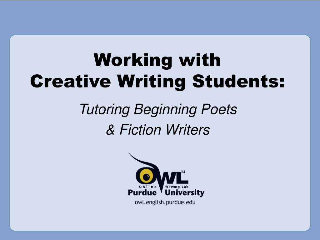 working with creative writing students l.