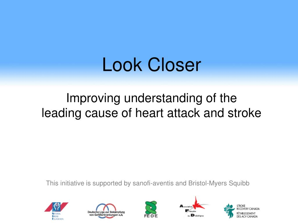 look closer improving understanding of the leading cause of heart attack and stroke l.