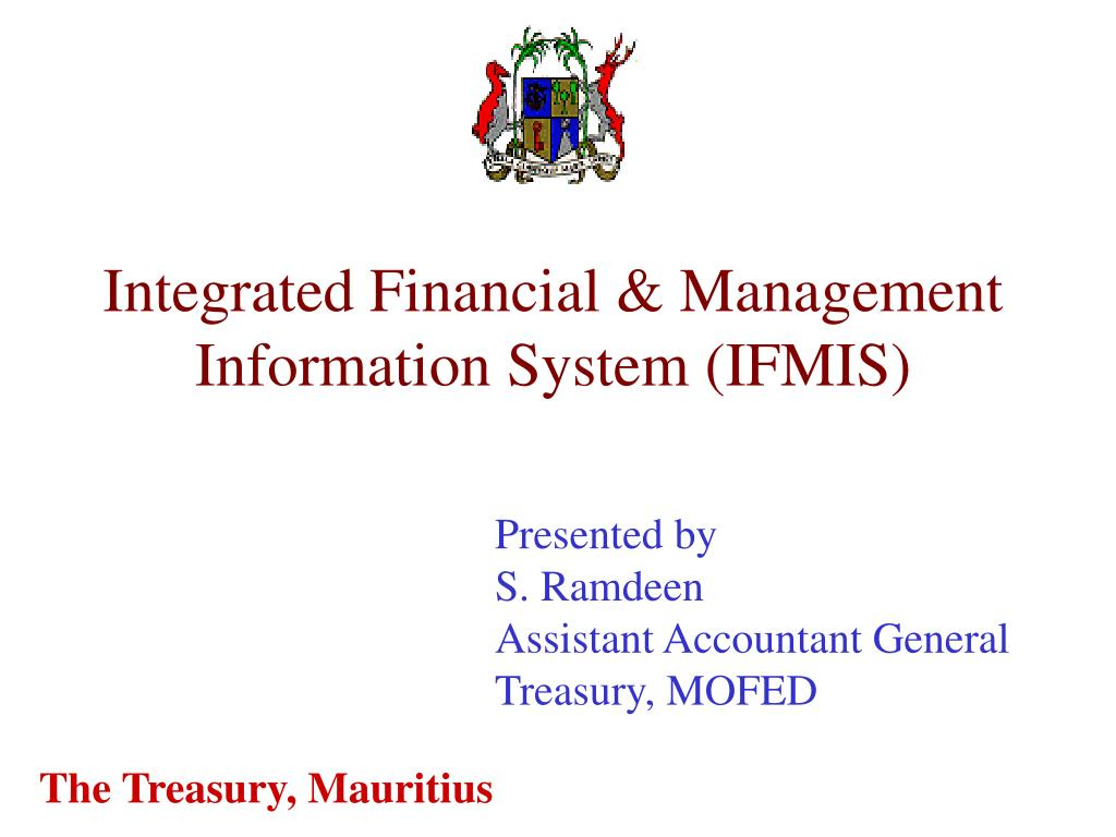 integrated financial management information system ifmis l.