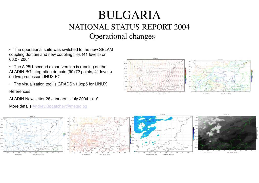 bulgaria national status report 2004 l.