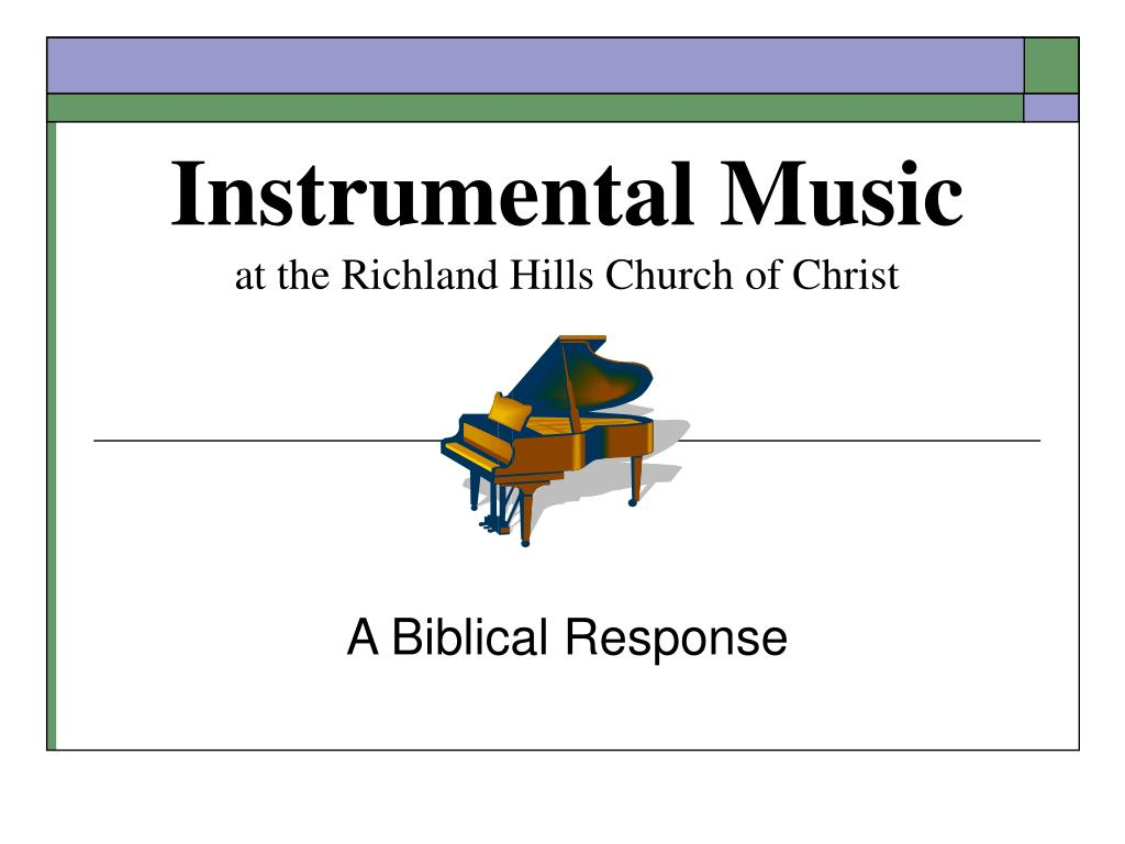 instrumental music at the richland hills church of christ l.