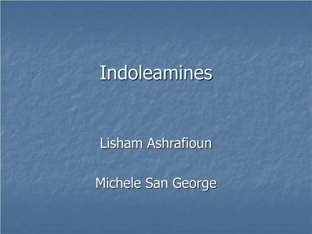indoleamines l.