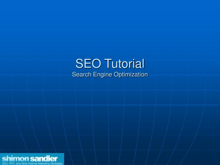 seo tutorial search engine optimization n.
