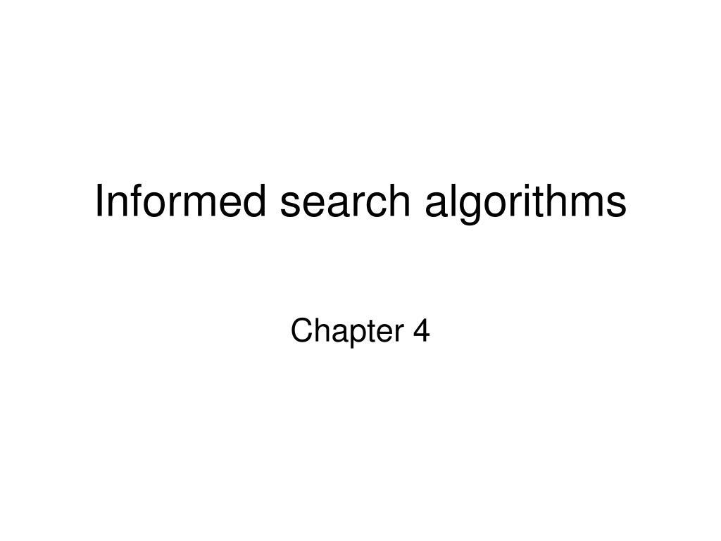 informed search algorithms l.