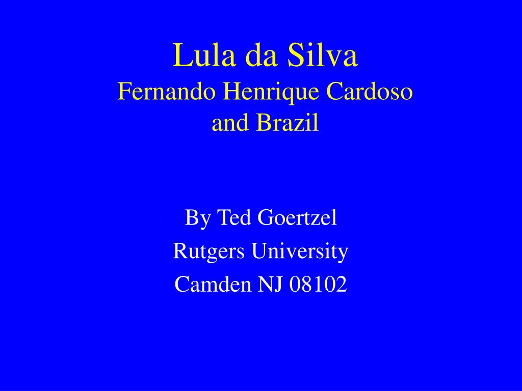 lula da silva fernando henrique cardoso and brazil l.