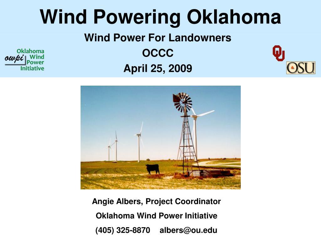 wind powering oklahoma l.