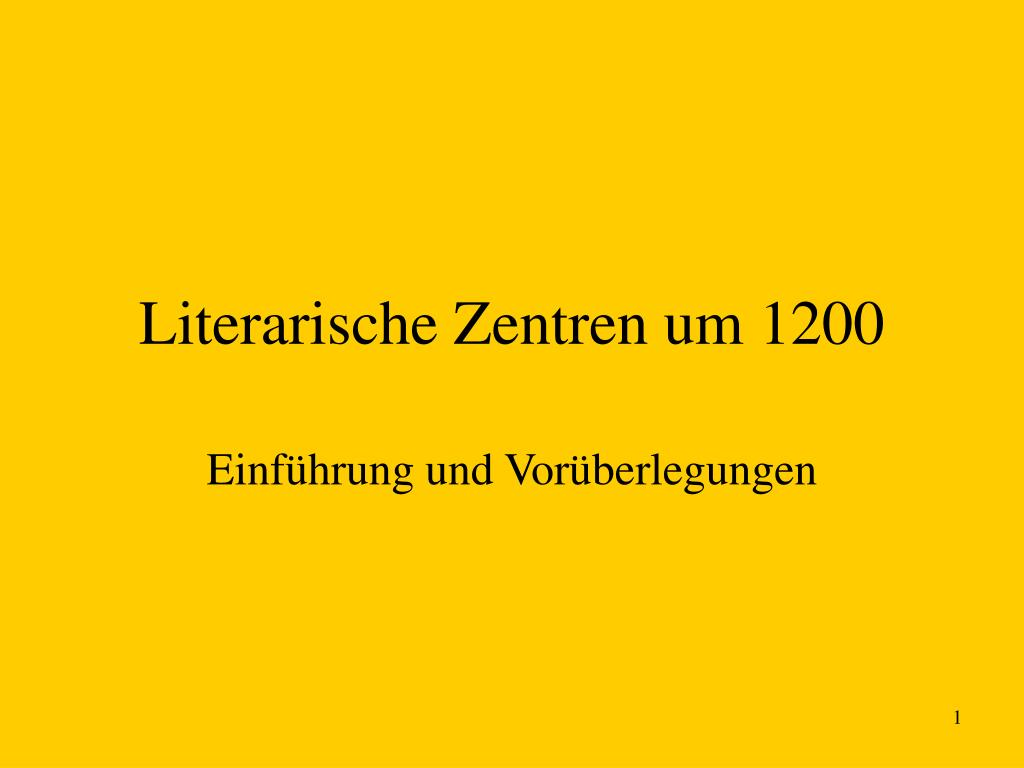 literarische zentren um 1200 l.