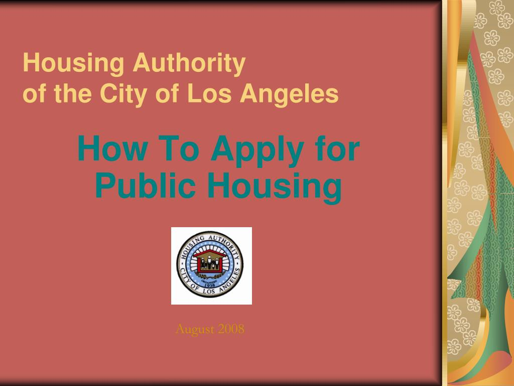 housing authority of the city of los angeles l.