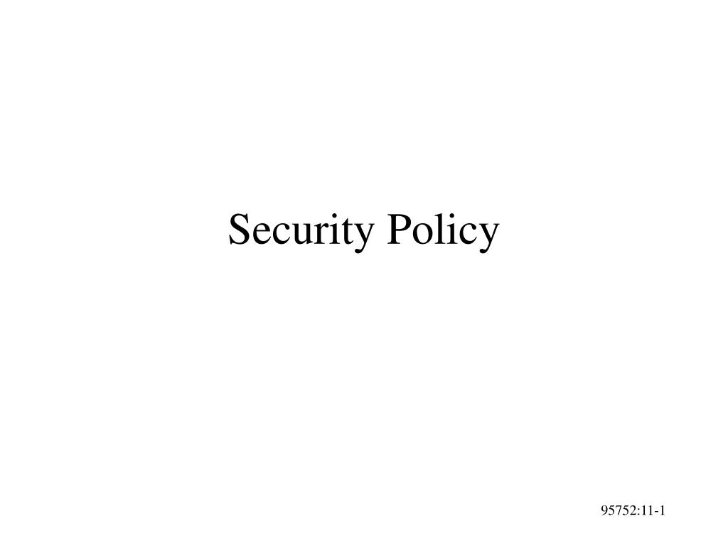 security policy l.