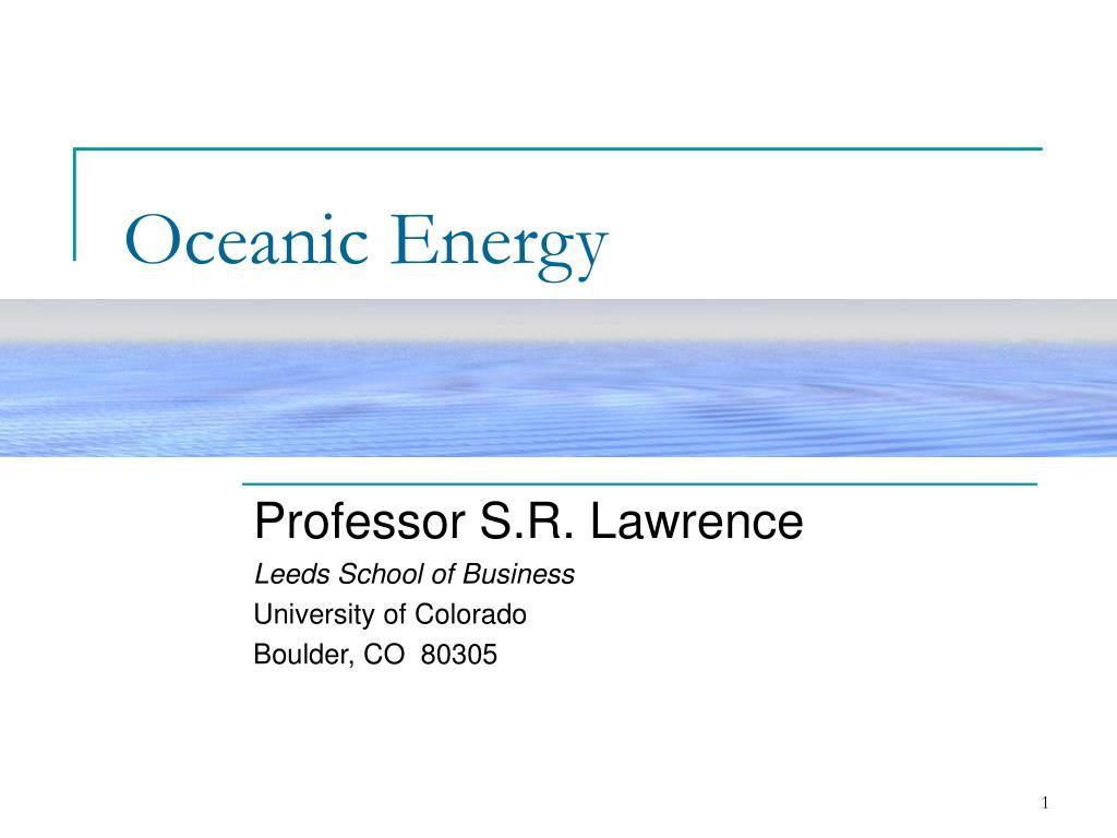 oceanic energy l.