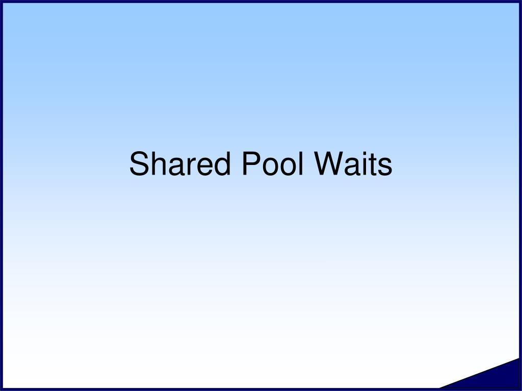 shared pool waits l.
