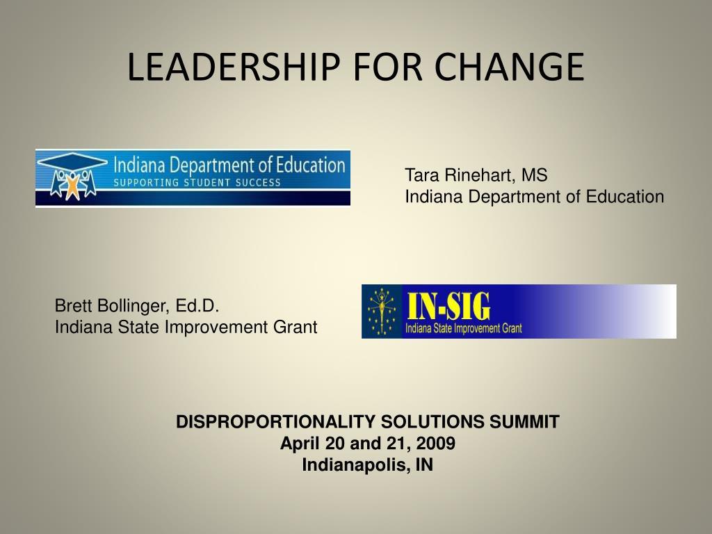 leadership for change l.