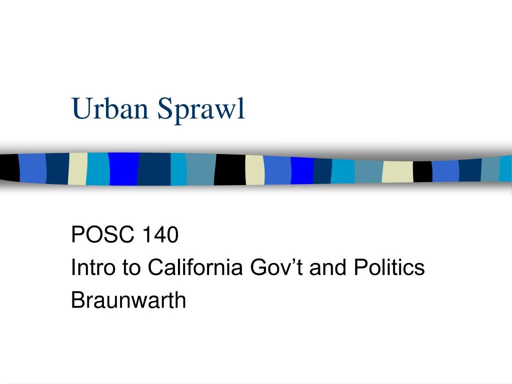 urban sprawl l.