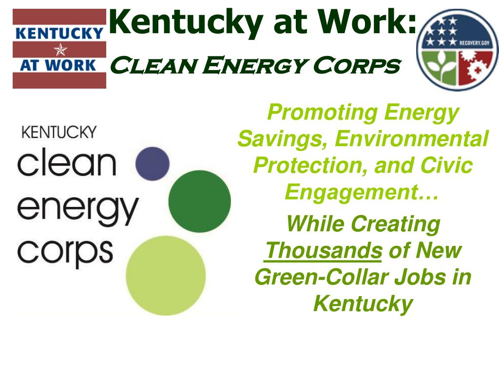 kentucky at work clean energy corps l.