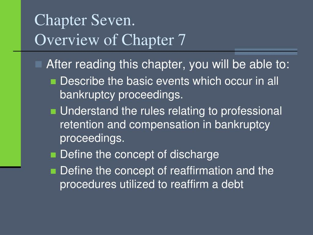 chapter seven overview of chapter 7 l.