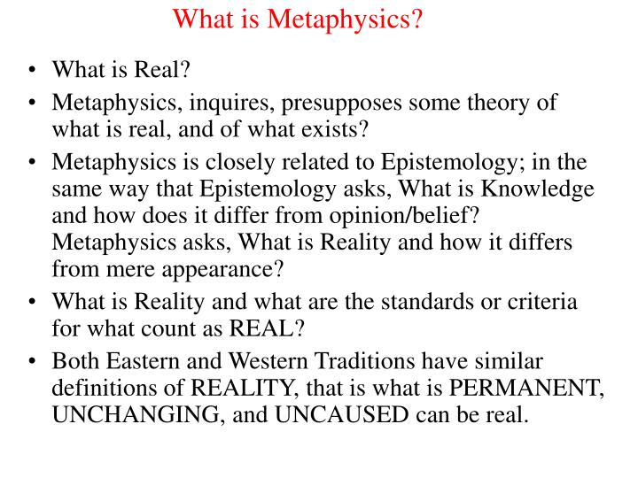 what is metaphysics n.