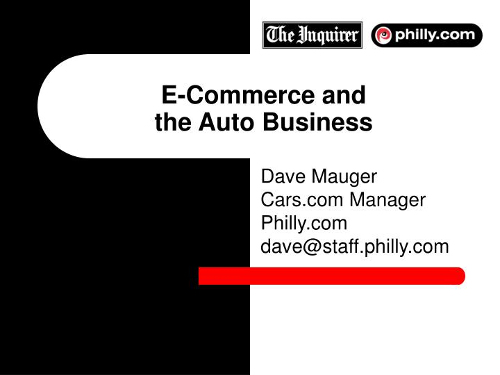 e commerce and the auto business n.