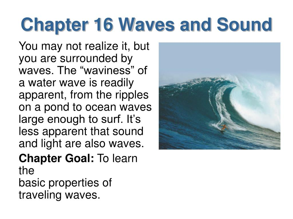 chapter 16 waves and sound l.
