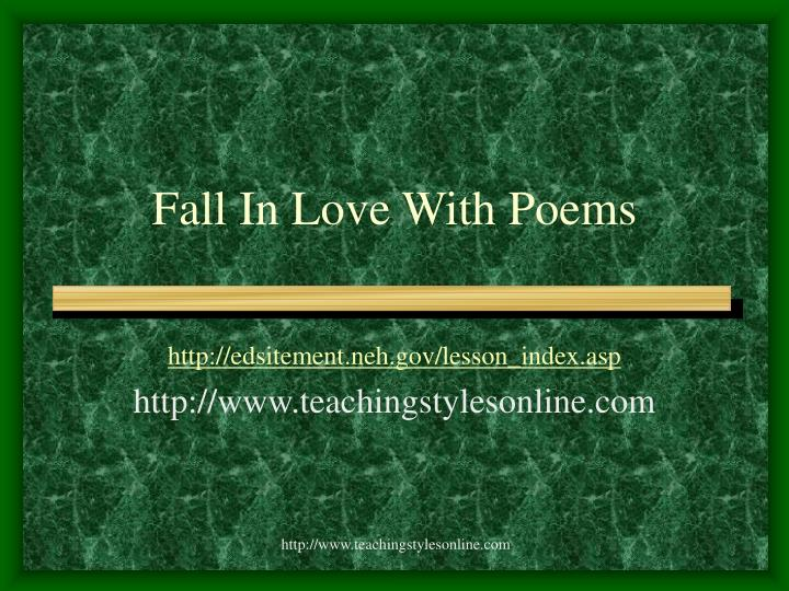 fall in love with poems n.