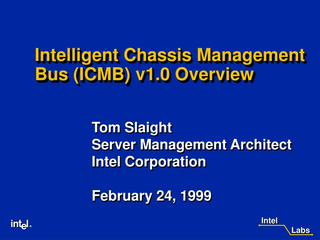intelligent chassis management bus icmb v1 0 overview l.